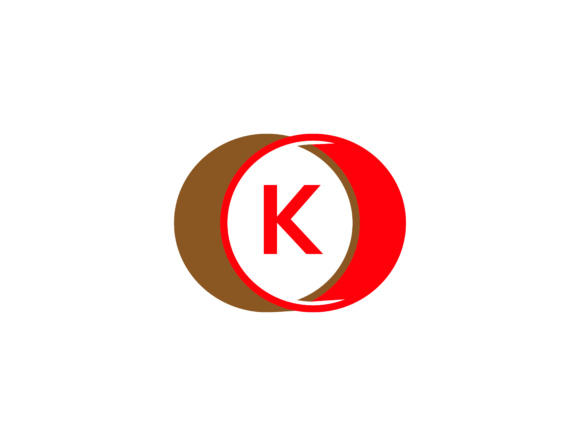 Print on Demand: Circle and Letter K Logo Design Graphic Logos By meisuseno