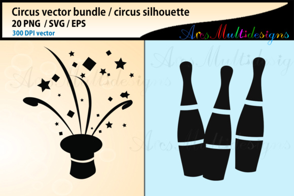Print on Demand: Circus SVG Bundle Graphic Illustrations By Arcs Multidesigns - Image 2