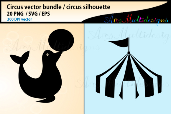 Print on Demand: Circus SVG Bundle Graphic Illustrations By Arcs Multidesigns - Image 4