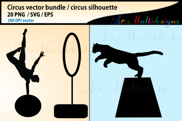 Print on Demand: Circus SVG Bundle Graphic Illustrations By Arcs Multidesigns - Image 5