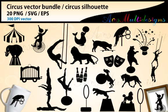 Print on Demand: Circus SVG Bundle Gráfico Ilustraciones Por Arcs Multidesigns
