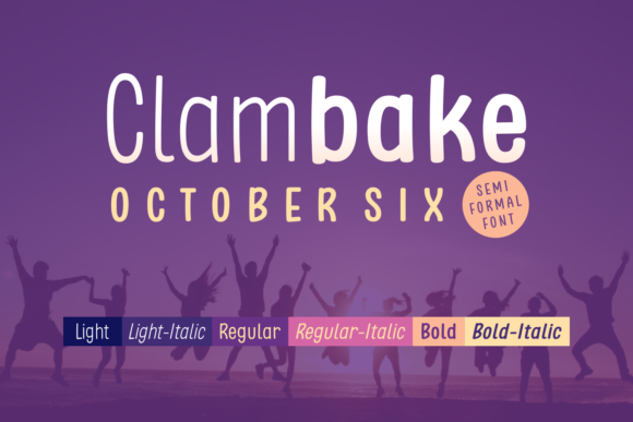 Print on Demand: Clambake October Six Sans Serif Font By Situjuh