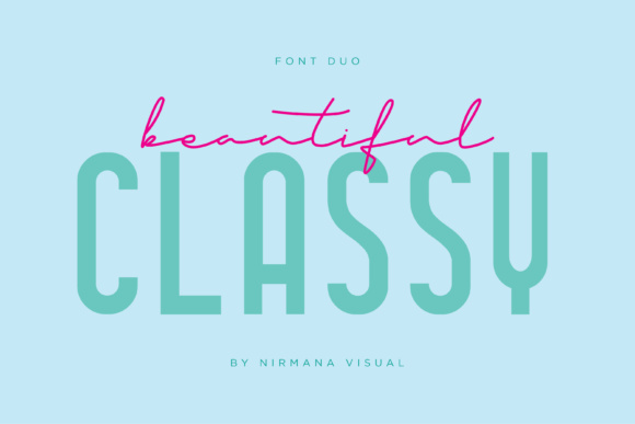 Print on Demand: Classy Beautiful Duo Script & Handwritten Font By Sigit Dwipa