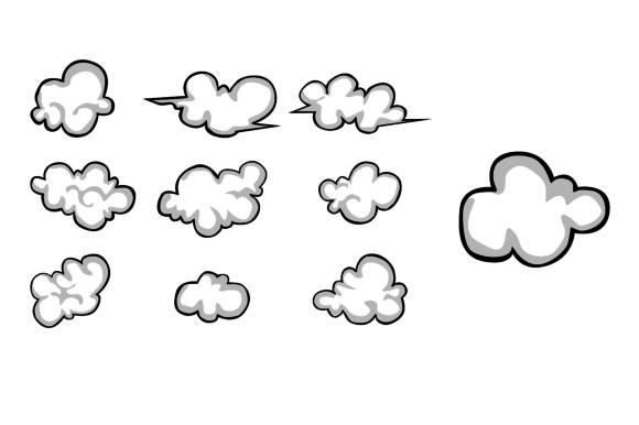 Print on Demand: Cloud Graphic Illustrations By Arief Sapta Adjie