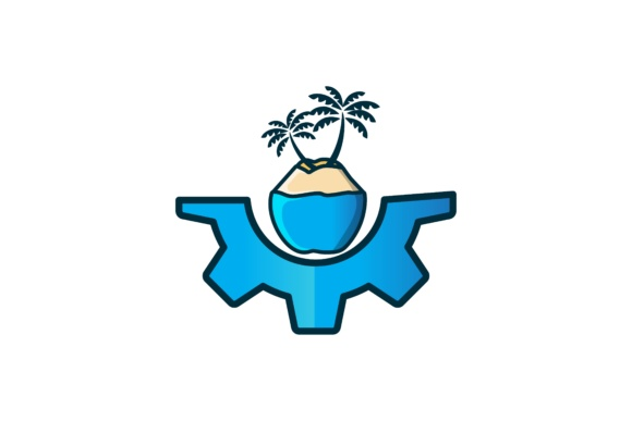 Download Free Coconut Tree Logo Graphic By Yahyaanasatokillah Creative Fabrica for Cricut Explore, Silhouette and other cutting machines.