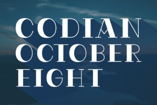 Codian October Eight Font By Situjuh