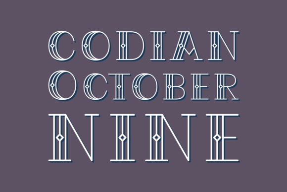 Codian October Nine Display Font By Situjuh