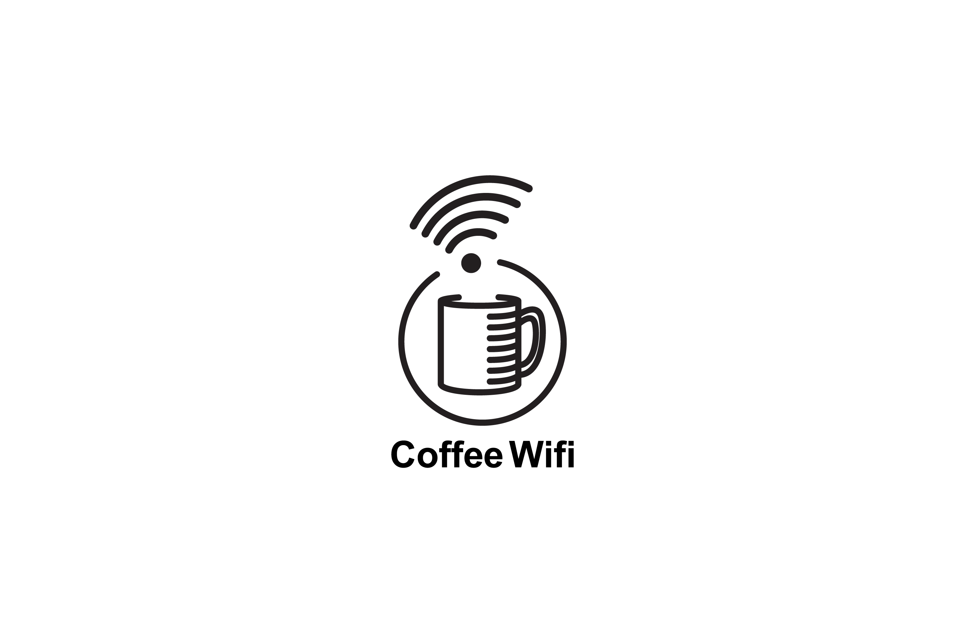 Download Free Coffee Wifi Logo Design Graphic By Sabavector Creative Fabrica for Cricut Explore, Silhouette and other cutting machines.