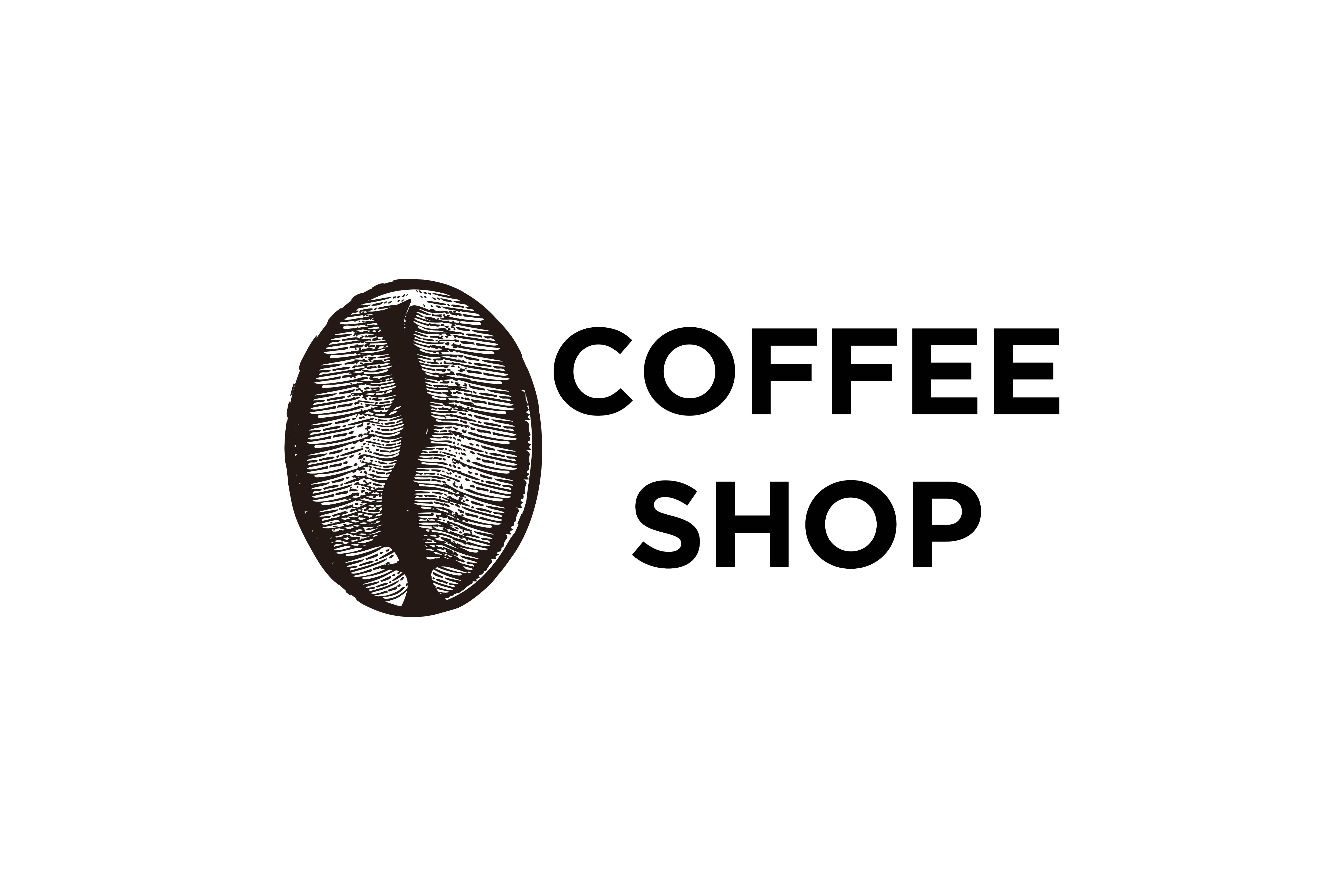 Download Free Coffee Bean Logo Graphic By Yahyaanasatokillah Creative Fabrica for Cricut Explore, Silhouette and other cutting machines.