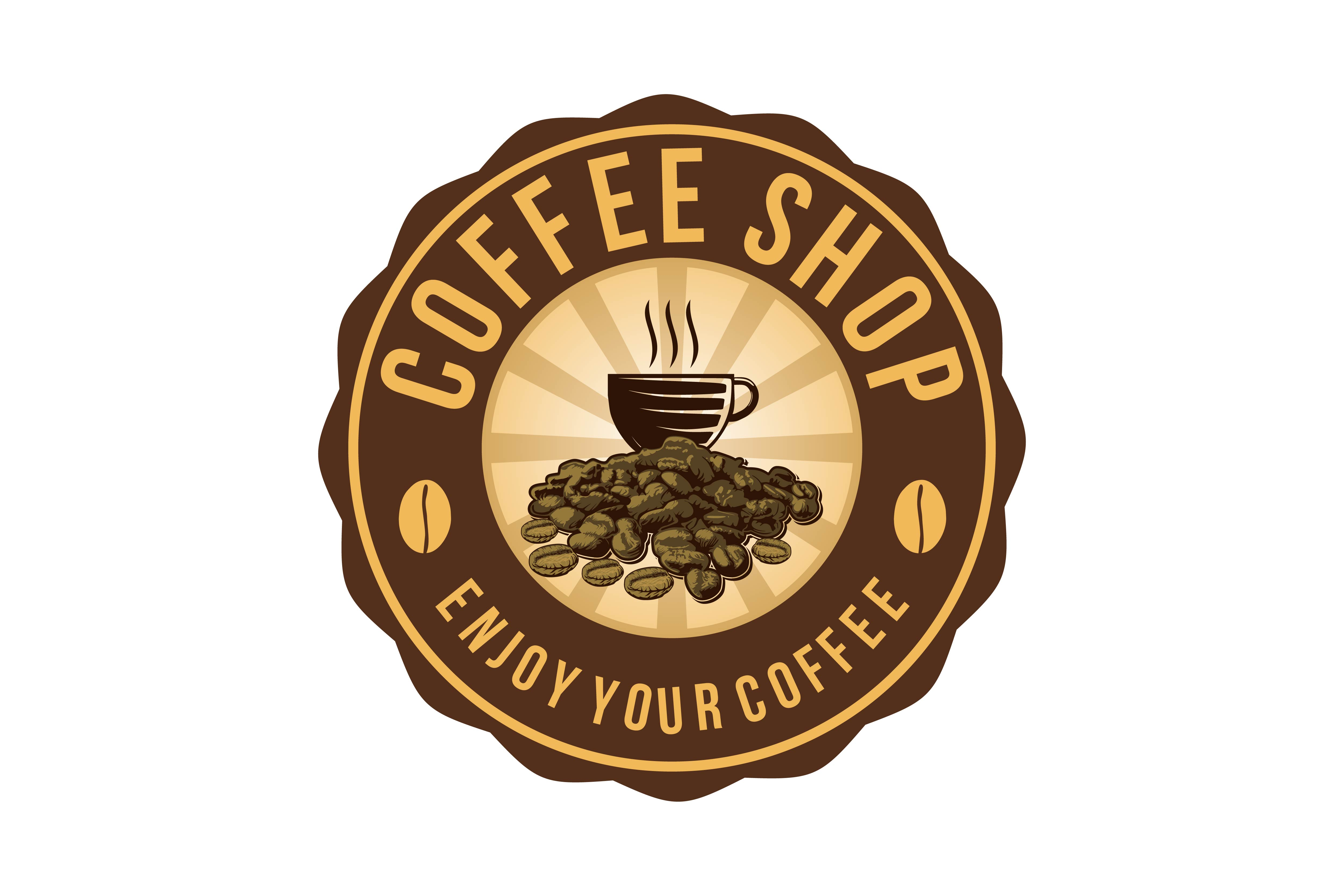 Download Free Coffee Cup A Pile Of Coffee Bean Coffee Shop Logo Graphic By SVG Cut Files