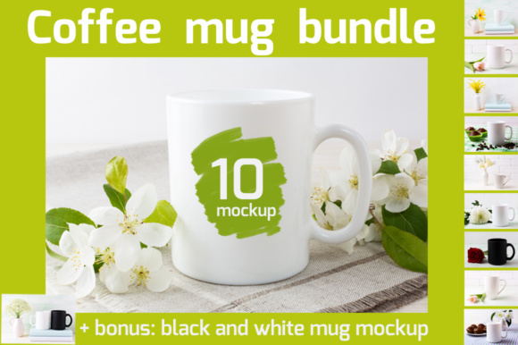 Print on Demand: Coffee Mug Mockup Bundle Graphic Product Mockups By TasiPas - Image 1