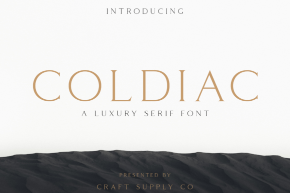 Download Free Coldiac Font By Craftsupplyco Creative Fabrica for Cricut Explore, Silhouette and other cutting machines.