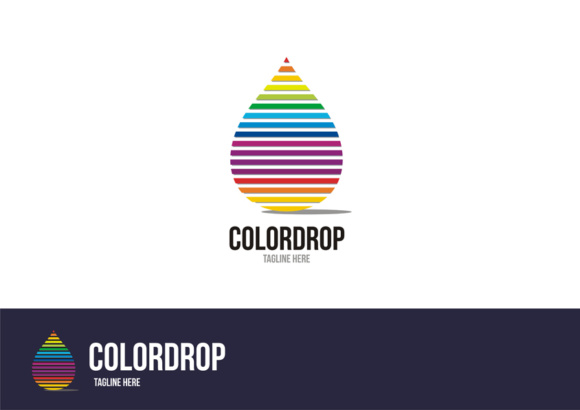Color Drops Logo Graphic Logos By TS d'sign