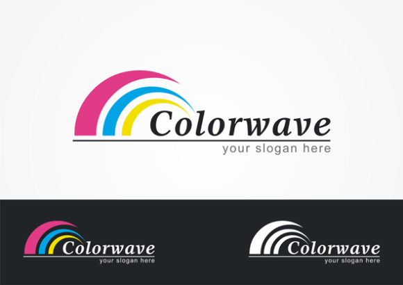 Colorwave Logo Graphic Logos By TS d'sign