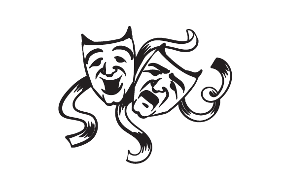 Comedy Tragedy Masks Svg Cut File By Creative Fabrica Crafts