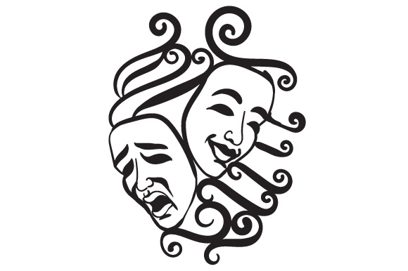 Download Free Comedy Tragedy Masks Svg Cut File By Creative Fabrica Crafts for Cricut Explore, Silhouette and other cutting machines.