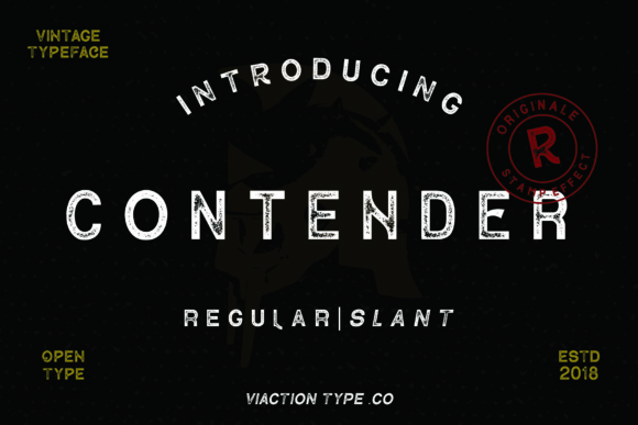 Print on Demand: Contender Display Font By Viaction Type.Co - Image 1