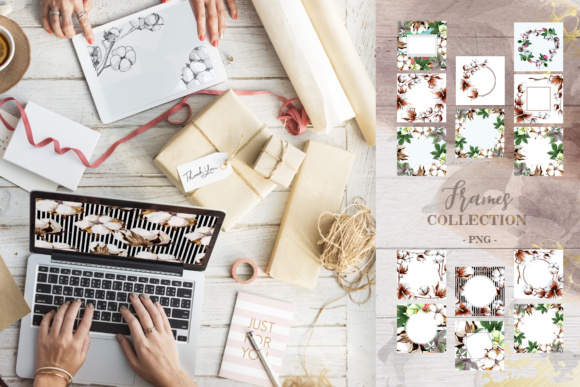 Download Free Cotton Collection Graphic By Mystocks Creative Fabrica for Cricut Explore, Silhouette and other cutting machines.