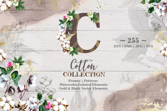 Print on Demand: Cotton Collection Graphic Illustrations By MyStocks