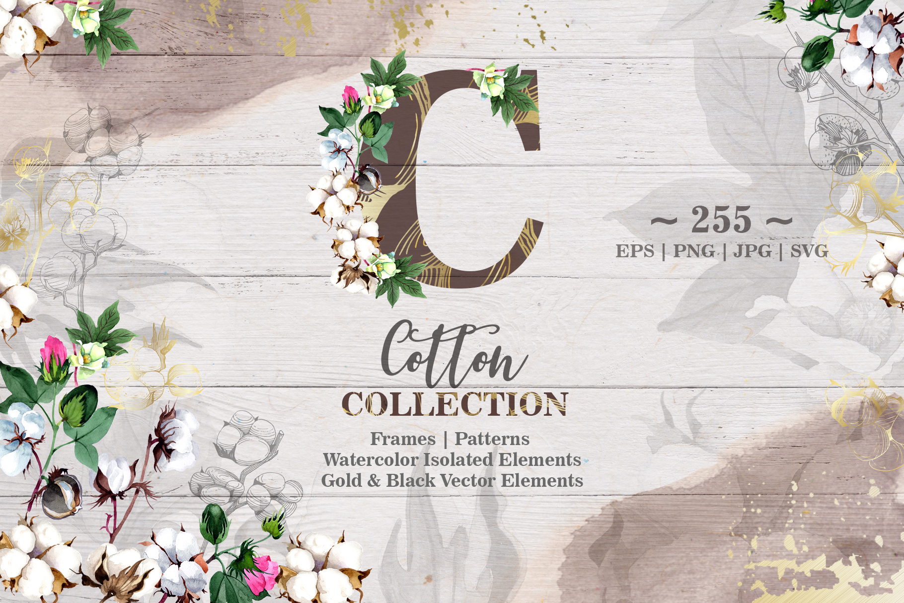 Download Free Cotton Collection Grafico Por Mystocks Creative Fabrica for Cricut Explore, Silhouette and other cutting machines.