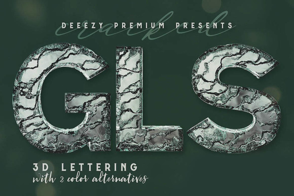 Download Free Cracked Glass 3d Lettering Graphic By Jumbodesign Creative for Cricut Explore, Silhouette and other cutting machines.