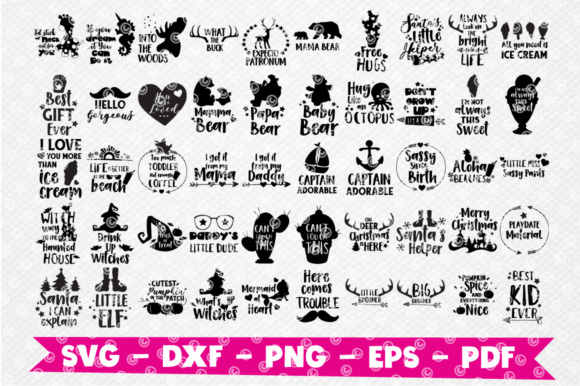Download Free Craft Mega Bundle 150 In 1 Graphic By Prettygrafik Creative for Cricut Explore, Silhouette and other cutting machines.