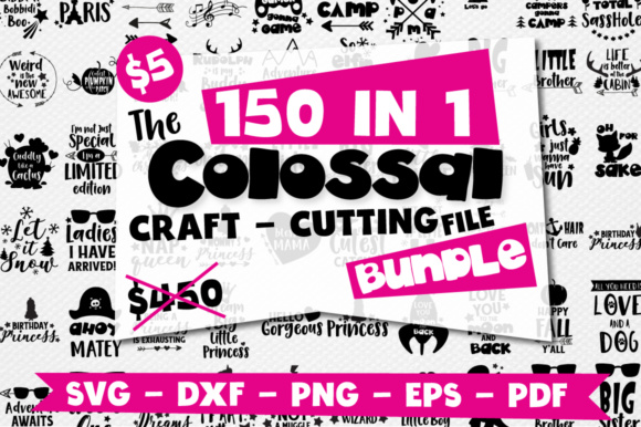 Print on Demand: Craft Mega Bundle, 150 in 1 Graphic Crafts By Prettygrafik
