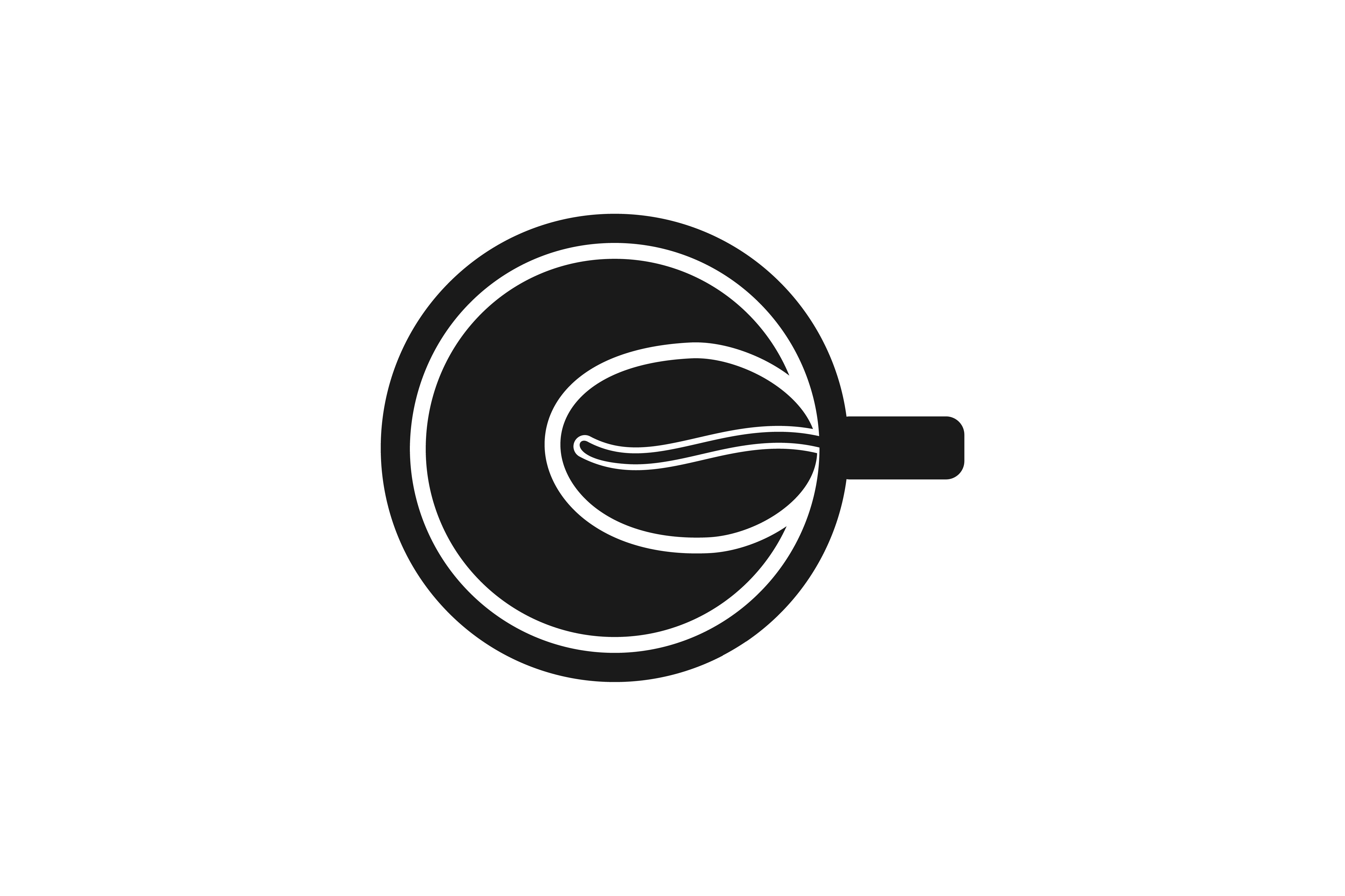 Download Free Cup And Coffee Bean Logo Graphic By Yahyaanasatokillah for Cricut Explore, Silhouette and other cutting machines.