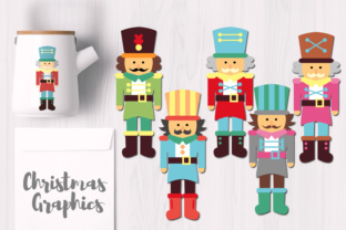 Cute Christmas Nutcrackers Graphic By Revidevi