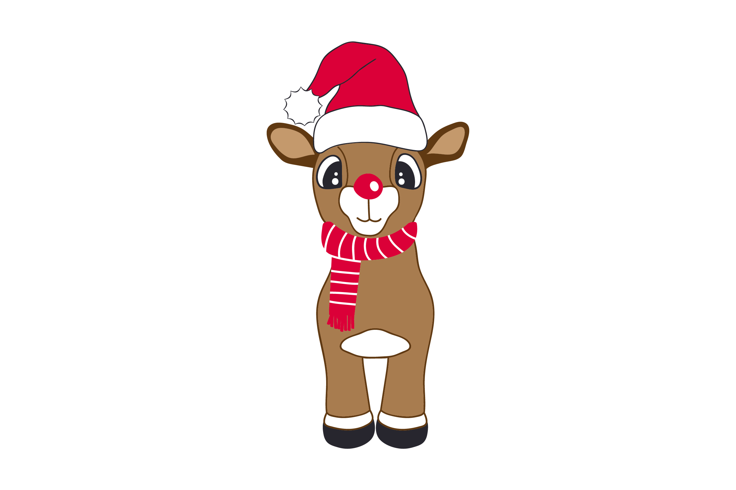 Download Free Cute Reindeer With Christmas Hat Svg Cut File By Creative for Cricut Explore, Silhouette and other cutting machines.