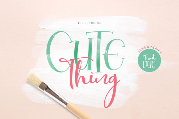 Print on Demand: Cute Thing Duo Script & Handwritten Font By Khurasan