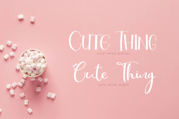 Print on Demand: Cute Thing Duo Script & Handwritten Font By Khurasan - Image 8