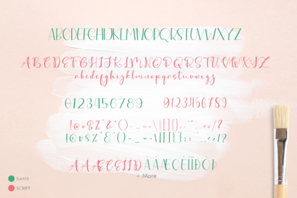Print on Demand: Cute Thing Duo Script & Handwritten Font By Khurasan - Image 9