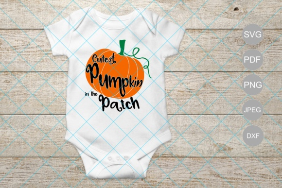 Download Free Cutest Pumpkin In The Patch Graphic By Unicorn Imaging for Cricut Explore, Silhouette and other cutting machines.