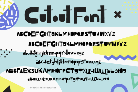 Print on Demand: Cutout Display Font By Favete Art - Image 2