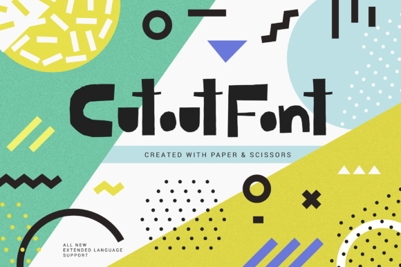 Print on Demand: Cutout Display Font By Favete Art