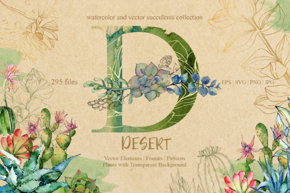 Print on Demand: D-desert Watercolor Set Graphic Illustrations By MyStocks