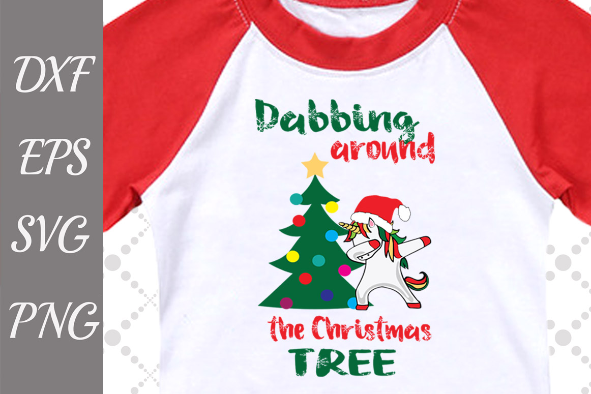 Download Free Dabbing Around The Christmas Tree Svg Dab Unicorn Svg Graphic for Cricut Explore, Silhouette and other cutting machines.