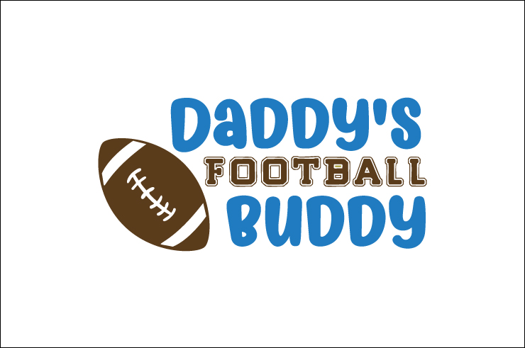 Daddy S Football Buddy Svg Cut File By Creative Fabrica