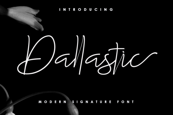 Print on Demand: Dallastic Script Script & Handwritten Font By akifatype - Image 1