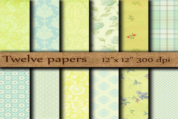 Damask Digital Paper Graphic Patterns By twelvepapers