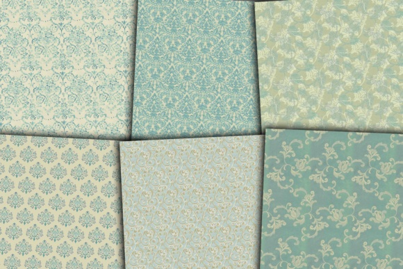 Damask Digital Papers Graphic Backgrounds By twelvepapers - Image 2