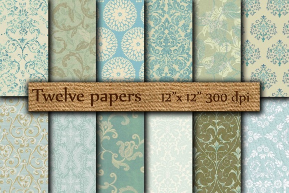Damask Digital Papers Graphic Backgrounds By twelvepapers