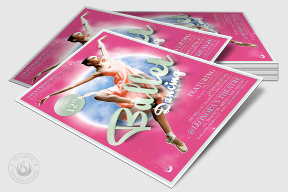 Download Free Dance Ballet Flyer Template Graphic By Thatsdesignstore for Cricut Explore, Silhouette and other cutting machines.