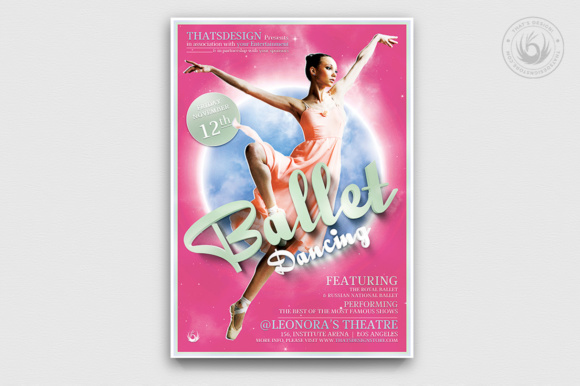 Dance Ballet Flyer Template Graphic Print Templates By ThatsDesignStore