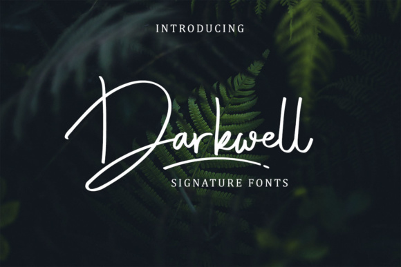 Print on Demand: Darkwell Family Script & Handwritten Font By Rillatype