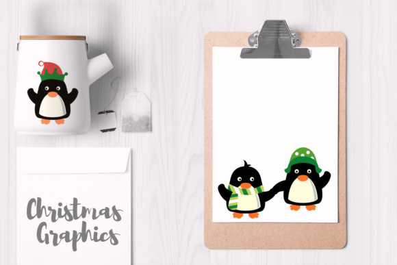 December Christmas Penguins Graphic By Revidevi Image 2