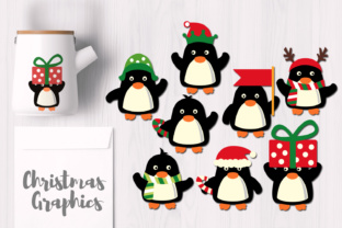December Christmas Penguins Graphic By Revidevi