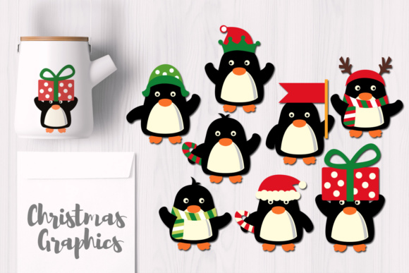 December Christmas Penguins Graphic By Revidevi Image 1