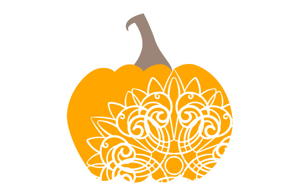 Download Free Decorated Pumpkin Svg Cut File By Creative Fabrica Crafts for Cricut Explore, Silhouette and other cutting machines.